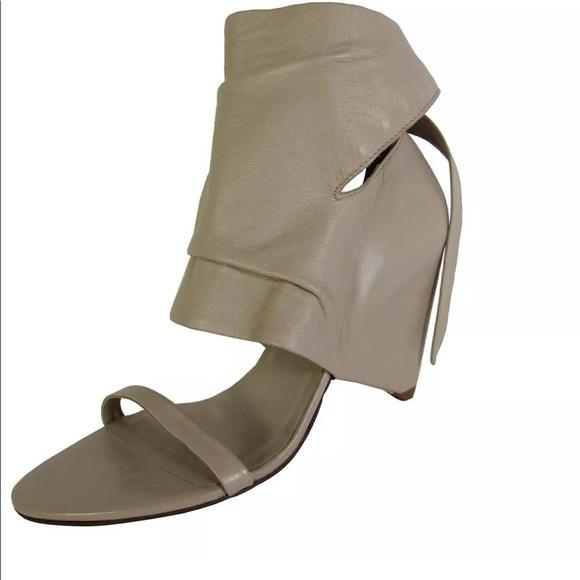 BCBGMaxAzria Shoes - BCBG Max Azria Gemma Wrapped Wedge Sandal  Taupe